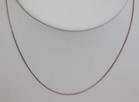 Rose Silver 18 Inch Long Snake Chain