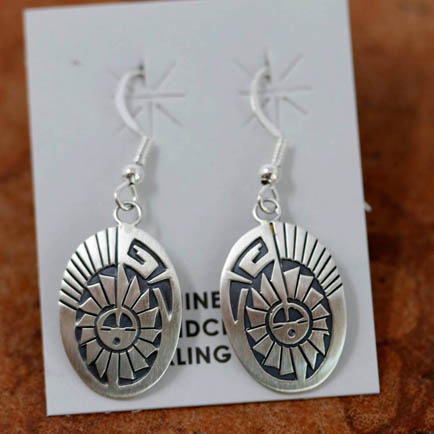 Navajo Silver Sunface Earrings