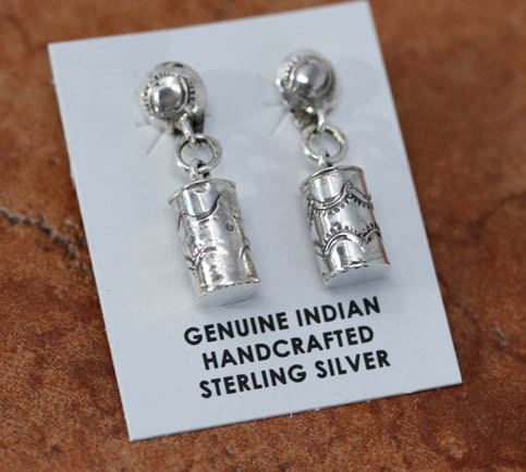 Navajo Silver Dangle Earrings