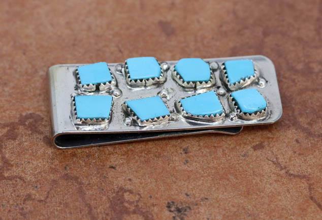 Zuni Turquoise Money Clip by Leekitty