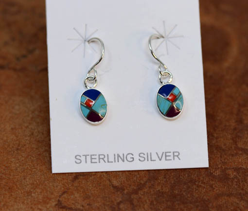 Silver Multi_Stone Earrings