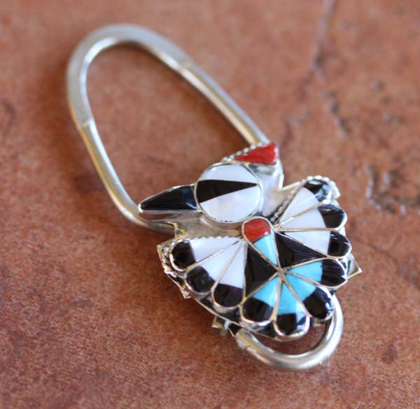 Zuni Silver Multi_Stone Key Chain